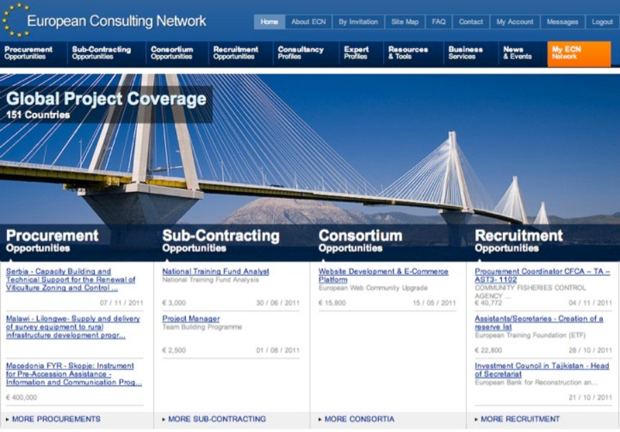 ECN, Consulting, Network, Europe, Navigator, Consulting