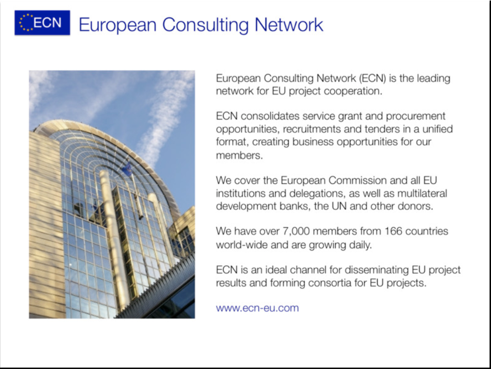 ECN, Europe, Project, Innovation, Network, Navigator, Consulting, EU, Members