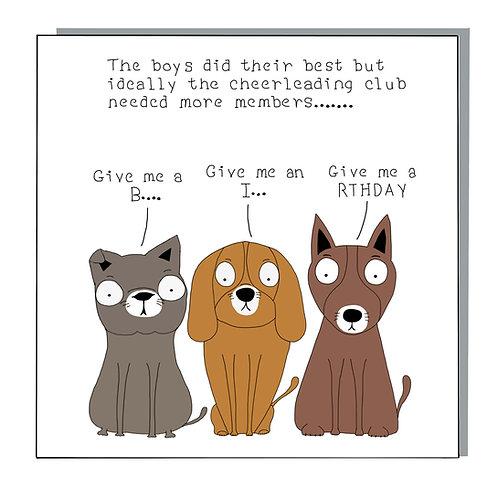 Cheerleading dogs