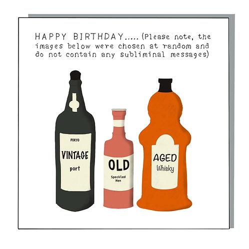 Birthday bottles