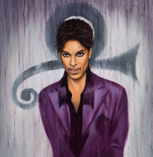 Prince painting in purple by Travis Knight