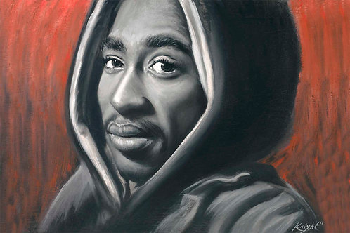 Painting of 2pac as Bishop, by Travis Knight