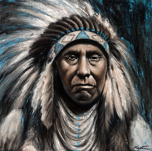 Chief Joseph Nez Perce Native American portrait by Travis Knight