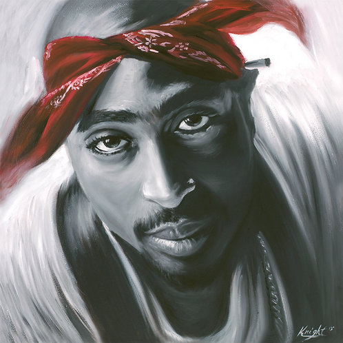 2pac portrait painting by Travis Knight