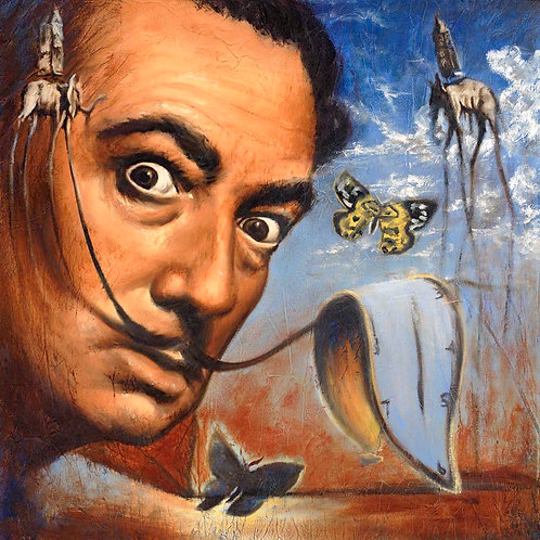 Salvador Dali painting by Travis Knight in full color