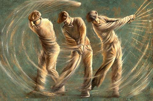 Ben Hogan golf swing painting by Travis Knight