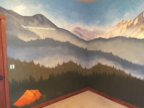 Backpacking Mural