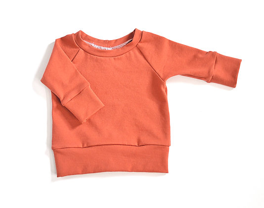Raglan Top in Terracotta