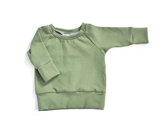 Raglan Top in Moss