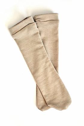 Beige Knee High Socks
