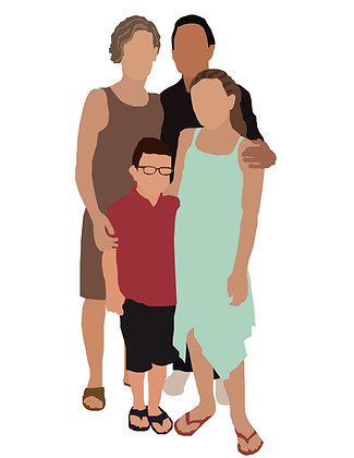 Custom Flat Illustration Portraits