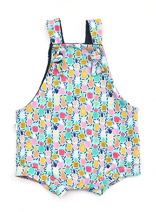 Overall Shorties - Pineapples 12-18m
