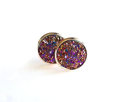 Firework Geode Earrings