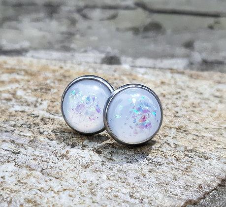 White Confetti Earrings