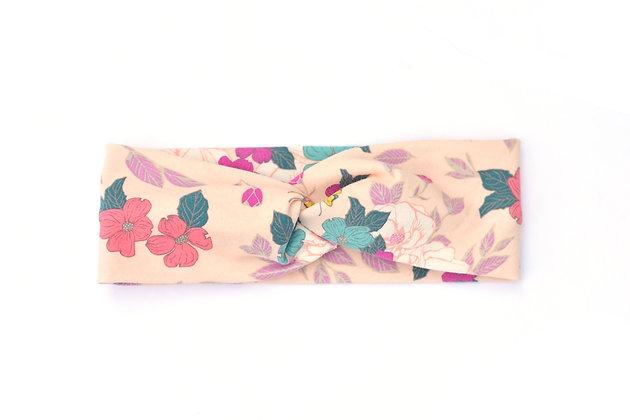 Child Headband Peach Floral