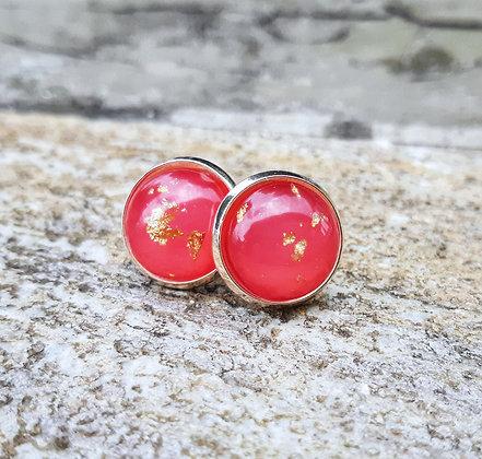 Red Foil Earrings