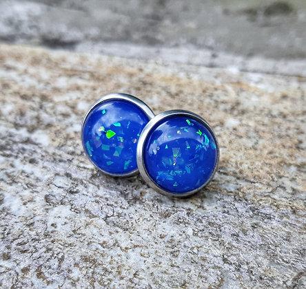 Blue Confetti Earrings