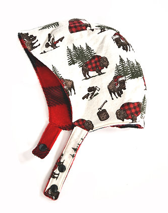 Buffalo Winter Bonnet 12-18m