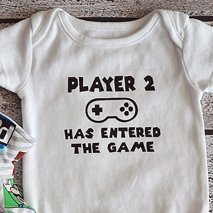 Player 2 Onesie 0-3m