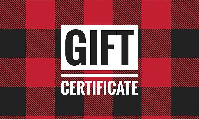 Gift Certificate - Custom Amount