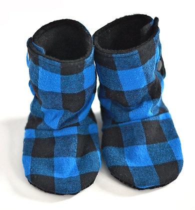 Blue Plaid Menta Boots 12-18m