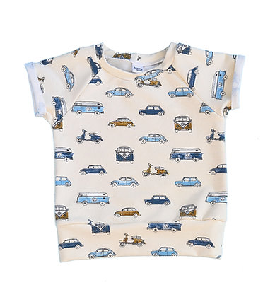 Raglan Top - Cars 9-12m