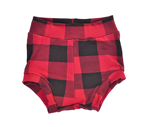Red Plaid Bummies 3T