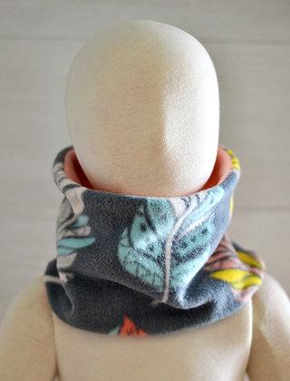Reversible Neckwarmer (Toddler) - Feathers