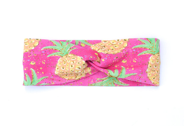 Child Headband Pink Pineapple