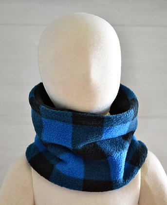 Reversible Neckwarmer (Toddler) - Blue Plaid