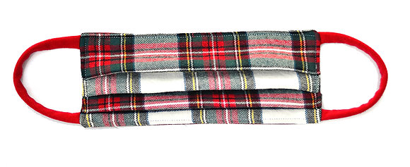 Face Mask - Red/Green Plaid