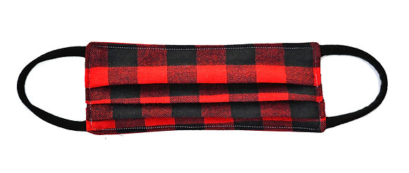 Face Mask - Red Plaid