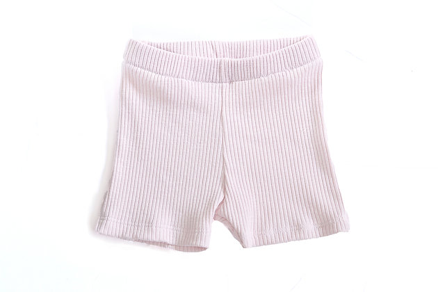 Ribbed Shorts - Ballet Slipper 6-9m