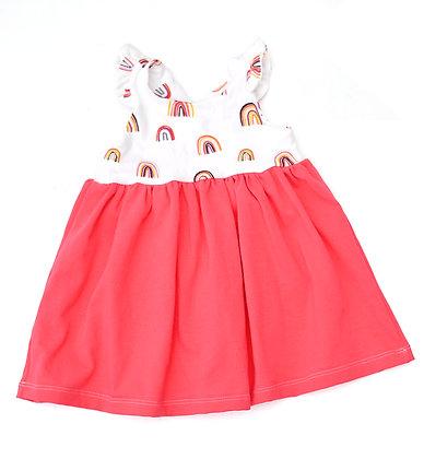 Sunshine Dress - Pink/Rainbow 9-12m