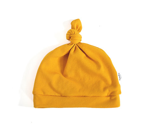 Knot Hat in Mustard