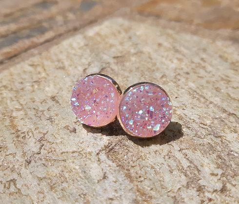 Iridescent Geode Earrings