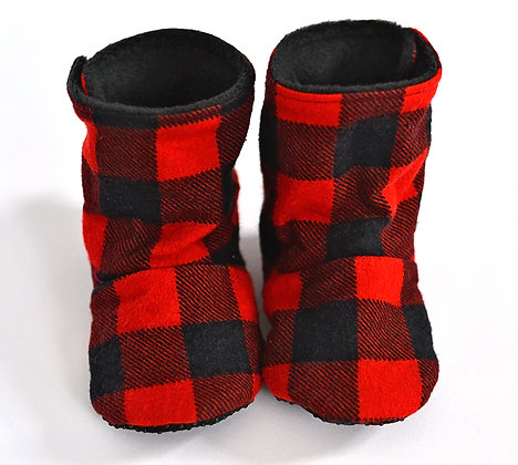 Red Plaid Menta Boots (made to order)