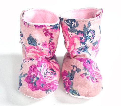 Pink Floral Menta Boots 9-12m