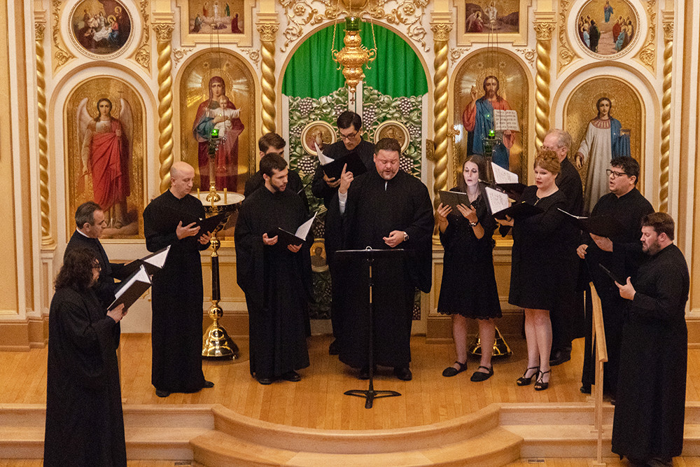 Protopsaltis John Michael Boyer and members of the YPHOS Byzantine Schola present a concert of ancient melodies with English text.