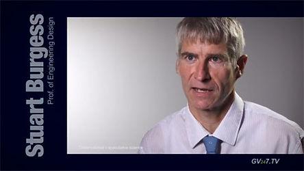 Professor Stuart Burgess (Optimisation of Mechanical and Biomechanical Systems) speaking for Global Vision TV