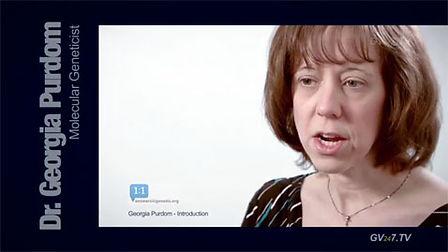 Dr. Georgia Purdom (PhD in Molecular Genetics) speaking for Global Vision TV