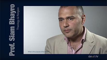 Prof. Siam Bhayro (Early Jewish Studies) speaking for Global Vision TV