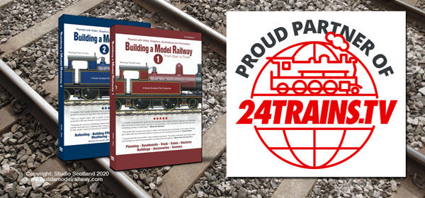 24Trains TV with Building a Model Railway on tracks.