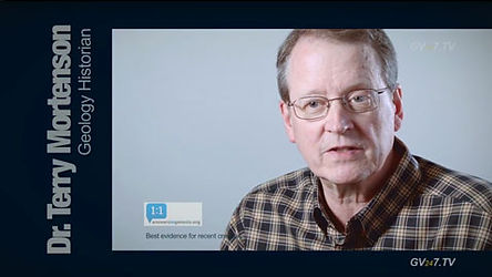Dr Terry Mortenson (MDiv and PhD Geology) speaking for Global Vision TV