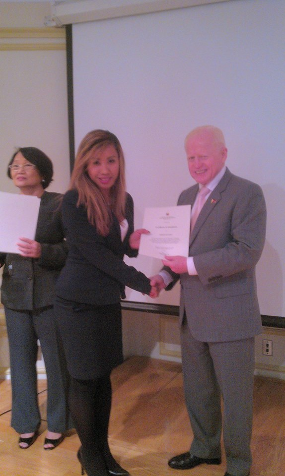 Recognition Award by Philippine Amb