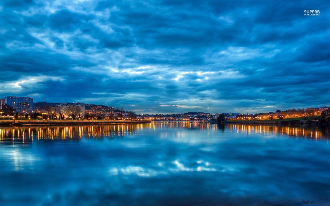 Beautiful sky in Spain Corunna