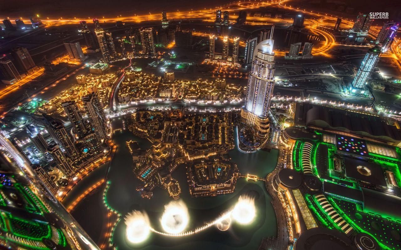 Dancing Water Nightlight in Dubai