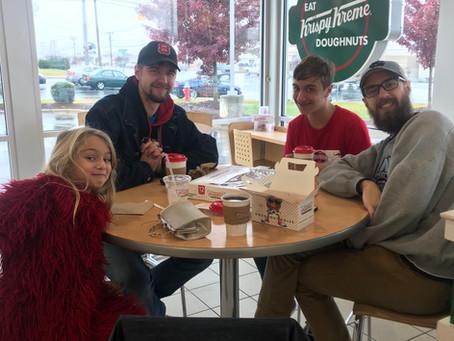 Acorn Princess at the Burlington Christmas Parade! And Krispy Kreme afterwards!