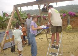 2005 U.S. contruction team for clinic jungle gym