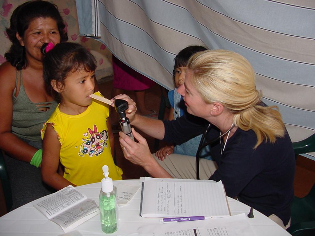 911 PA Lynett Conrad during medical mission